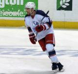 Joakim Andersson skates during pre-game warmups before the Grand Rapids Griffins' Purple Game.