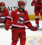 Jake Chelios of the Charlotte Checkers skates during pre-game warmups before a game against the Grand Rapids Griffins.