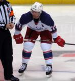 Daniel Cleary gets set for a faceoff during the Grand Rapids Griffins' Purple Game.
