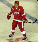 Nicklas Lidstrom skates near the blue line during the 2016 Stadium Series Alumni Game at Coors Field.