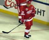 Steve Yzerman skates during a stop in play in the 2016 Stadium Series Alumni Game at Coors Field.