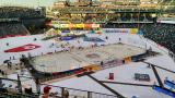 The Stadium Series rink at Denver's Coors Field.