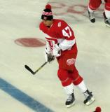 Alexey Marchenko skates during pre-game warmups prior to the Stadium Series game in Denver.