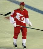Justin Abdelkader skates during a stop in play in the Stadium Series game in Denver.