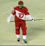 Andreas Athanasiou skates during a stop in play in the Stadium Series game in Denver.