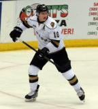 Christian Dvorak of the London Knights skates during a game against the Flint Firebirds in Saginaw.