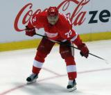 Andreas Athanasiou crouches during a stop in play.