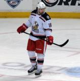 Xavier Ouellet skates during a stop in play in a Grand Rapids Griffins game.
