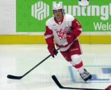 Mitch Callahan skates in the neutral zone  during pre-game warmups before a Grand Rapids Griffins game.