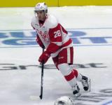 Matt Lorito skates in the neutral zone during pre-game warmups before a Grand Rapids Griffins game.