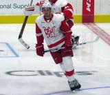 Anthony Mantha skates at center ice during pre-game warmups before a Grand Rapids Griffins game.
