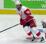 Eric Tangradi skates during pre-game warmups before a Grand Rapids Griffins game.