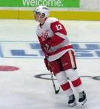 Matt Caito skates in the neutral zone during pre-game warmups before a Grand Rapids Griffins game.