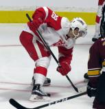 Matt Lorito lines up for a faceoff during a Grand Rapids Griffins game.
