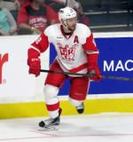Brian Lashoff skates near the boards during a Grand Rapids Griffins game.