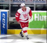 Mitch Callahan steps onto the ice as one of the three stars of a Grand Rapids Griffins game.