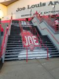 The Joe Louis Arena stairs prior to the arena's final home opener.