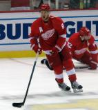 Justin Abdelkader skates in the neutral zone during pre-game warmups.