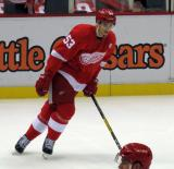 Alexey Marchenko skates during pre-game warmups.