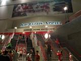The Joe Louis Arena steps after the Red Wings' last home opener at the arena.