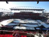 The rink at BMO Field prior to the start of the Centennial Classic.