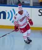 Steve Ott skates during pre-game warmups before the Centennial Classic.