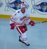Brendan Smith skates during pre-game warmups before the Centennial Classic.