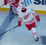 Gustav Nyquist skates during pre-game warmups before the Centennial Classic.