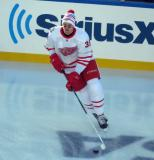 Anthony Mantha skates during pre-game warmups before the Centennial Classic.