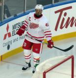 Henrik Zetterberg skates at the start of the Centennial Classic.
