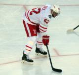 Thomas Vanek gets set for a faceoff during the Centennial Classic.