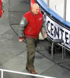 Red Wings assistant coach Pat Ferschweiler walks to the Detroit bench at the start of the second period of the Centennial Classic.