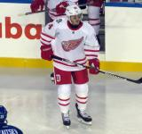Gustav Nyquist skates at the start of the second period of the Centennial Classic.