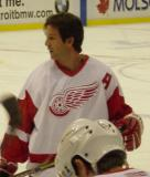 Brendan Shanahan skates to the near boards during pregame warmups.
