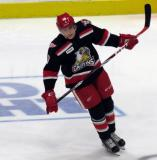Tomas Nosek skates during pre-game warmups before a Grand Rapids Griffins game.