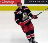 Dominic Turgeon skates during pre-game warmups before a Grand Rapids Griffins game.