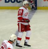 Anthony Mantha skates across the blue line during pre-game warmups.