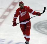 Niklas Kronwall skates during a stop in play.