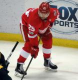 Mike Green gets set for a faceoff.