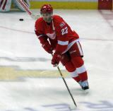 Matt Lorito skates in the neutral zone during pre-game warmups before the last game at Joe Louis Arena.