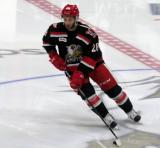Matt Lorito skates at center ice during pre-game warmups before a Grand Rapids Griffins playoff game.