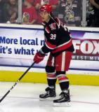 Tyler Bertuzzi skates near the boards during pre-game warmups before a Grand Rapids Griffins playoff game.
