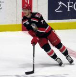 Evgeny Svechnikov skates near center ice during pre-game warmups before a Grand Rapids Griffins playoff game.
