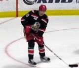 Tomas Nosek looks to make a pass during pre-game warmups before a Grand Rapids Griffins playoff game.