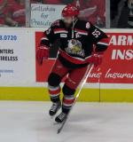 Matthew Ford skates near the boards during pre-game warmups before a Grand Rapids Griffins Calder Cup Finals game.
