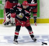 Tomas Nosek stickhandles during pre-game warmups before a Grand Rapids Griffins Calder Cup Finals game.