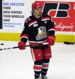 Mitch Callahan skates during pre-game warmups before a Grand Rapids Griffins Calder Cup Finals game.