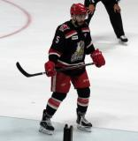 Robbie Russo skates in the defensive zone during a Grand Rapids Griffins Calder Cup Finals game.