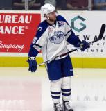 Kevin Lynch of the Syracuse Crunch skates during a stop in play in a Calder Cup Finals game against the Grand Rapids Griffins.