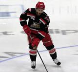 Matt Lorito skates in the neutral zone during pre-game warmups before Game Six of the Calder Cup Finals between the Grand Rapids Griffins and Syracuse Crunch.